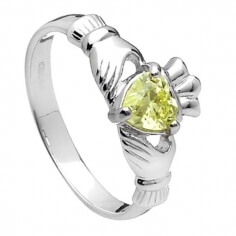 August Claddagh Ring - Silber