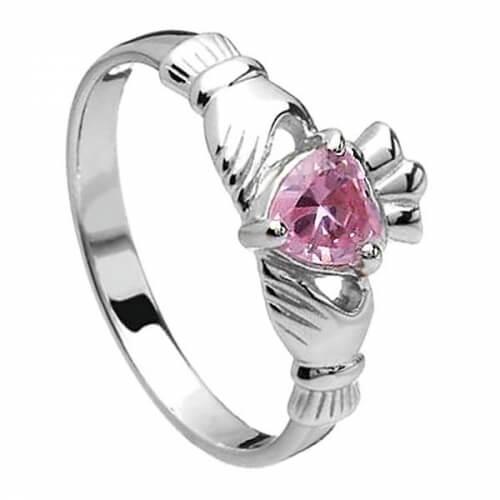 Oktober Claddagh Ring - Silber