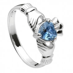 Dezember Claddagh Ring - Silber