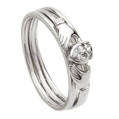 Silver Claddagh Cubic Zirconia Ring