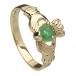 Damen Claddagh Ring mit Smaragd Herz