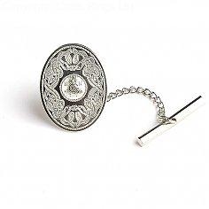 Oval Guerrier Celte Tie Pin