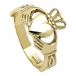 Mens Claddagh with Trinity Knots - Yellow Gold