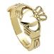Claddagh pour homme avec noeuds Trinité - Or jaune
