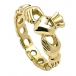 Womens Chain Link Claddagh Ring - Yellow Gold