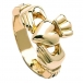 Mens Classic Claddagh Ring - Gold