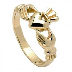 Klassischer Claddagh Ring für Damen - Gold