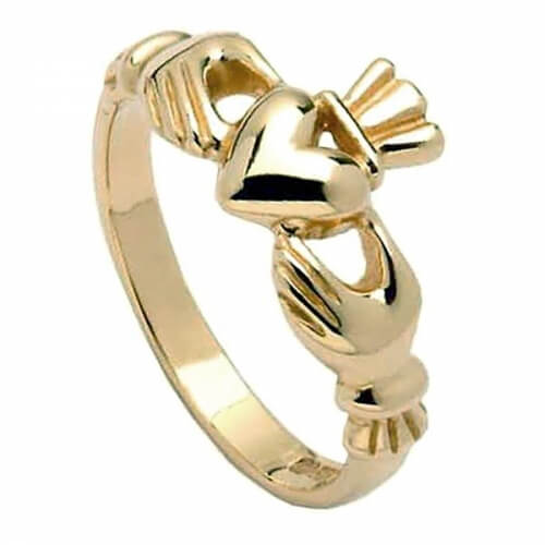 Womens Classic Claddagh Ring - Gold