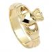Claddagh Ring mit hoher Krone - Gelbgold