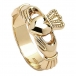 Mens New York Claddagh Ring - Gold