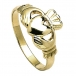 Mens Big Claddagh Ring - Yellow Gold
