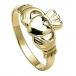 Großer Claddagh-Ring für Herren - Gelbgold