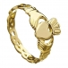 Claddagh with Twisted Band - Gold