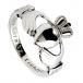 Womens Silver Claddagh Ring