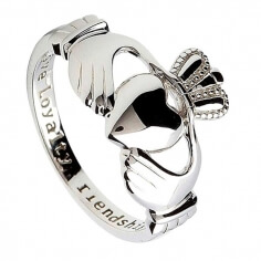 Womens Silver Claddagh Ring