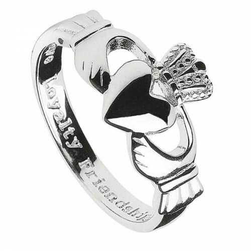 Silberner Claddagh-Ring für Herren
