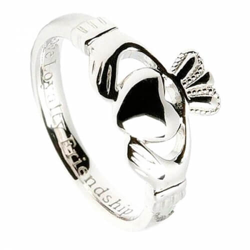 Komfortabler Damen Claddagh Ring