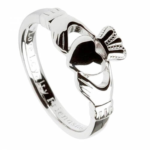 Mens Comfort Fit Claddagh Ring