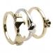 Drei Stück Gold Claddagh Ring