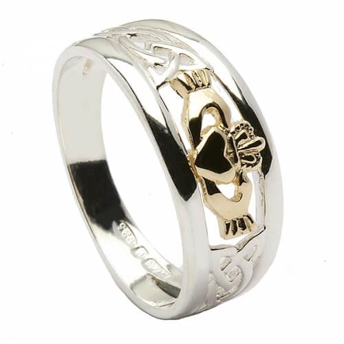 Noeud Trinité Claddagh Ring - Argent et Or