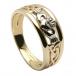Dreifaltigkeitsknoten Claddagh Ring - Gold
