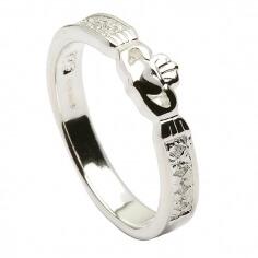 Claddagh CZ Ring - Silber