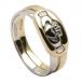 Zweiteiliger Claddagh Ring - Gelb- und Weißgold