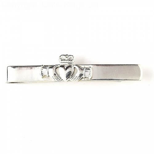 Claddagh Tie Bar - Silver