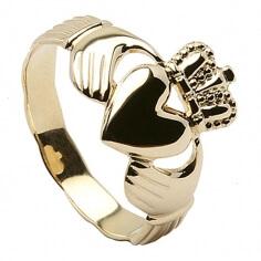 Mens Claddagh Ring - Gold