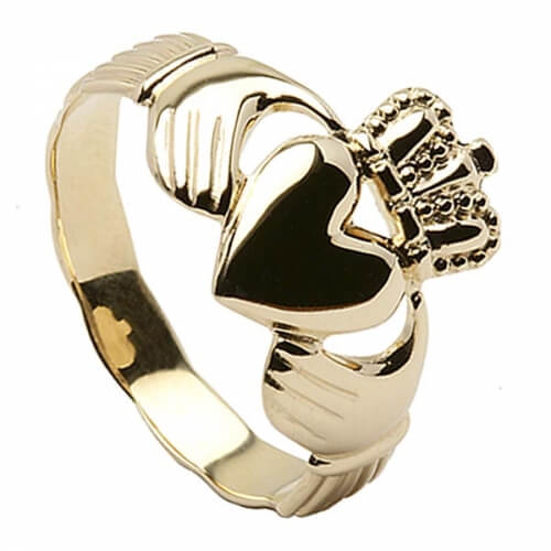 Mens Claddagh Ring - Gold