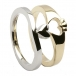 Claddagh Two Tone Ring - Yellow and White Gold