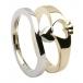 Claddagh Zwei-Ton-Ring - Gelb- und Weißgold