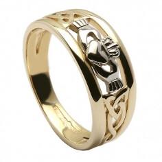 Two Tone Trinity Claddagh Ring - Gold