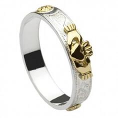 Celtic Shield Claddagh Ring