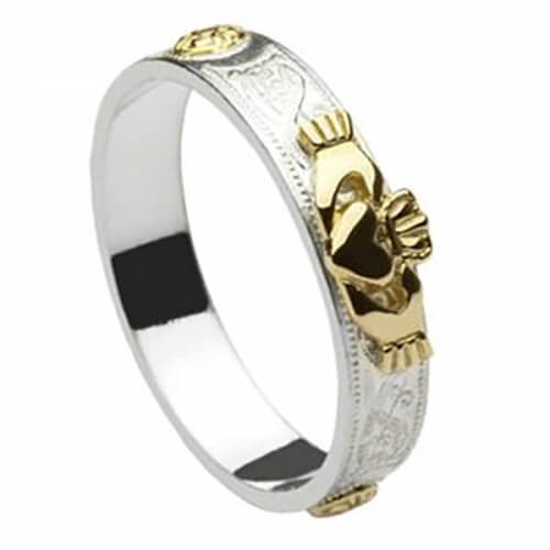 Celtic Shield Claddagh Ring
