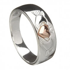 Claddagh with Rose Gold Heart