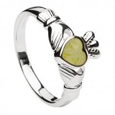 Connemara Marmor Claddagh Ring