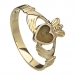 Gold Claddagh with Connemara Marble