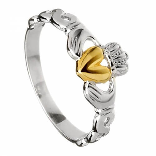Silver Claddagh with Celtic Knot