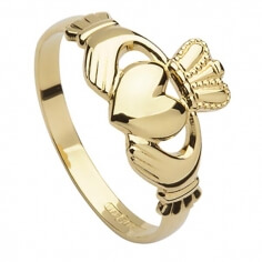 Mens 10k Gold Claddagh Ring