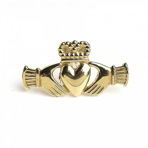 Claddagh Tie Pin - Yellow Gold