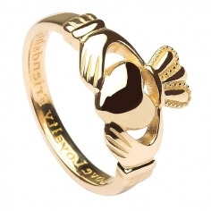 Mens Claddagh Ring with Engraving