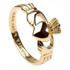 Womens Claddagh Ring with Engraving