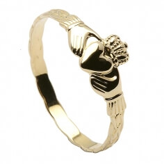 Claddagh Ring Baby - Gelbes Gold