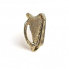 Harp Tie Pin - Yellow Gold