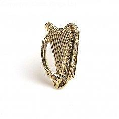 Épingle à cravate harpe - or jaune