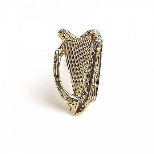 Harp Tie Pin - Yellow Gold