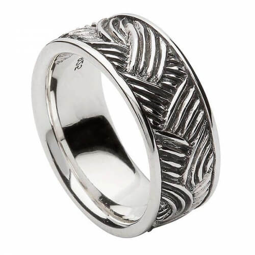 Unisex Celtic Weave Ring