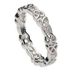 Celtic Knot Stone Set Ring