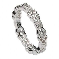 Keltische Knoten-Stein-Set Ring